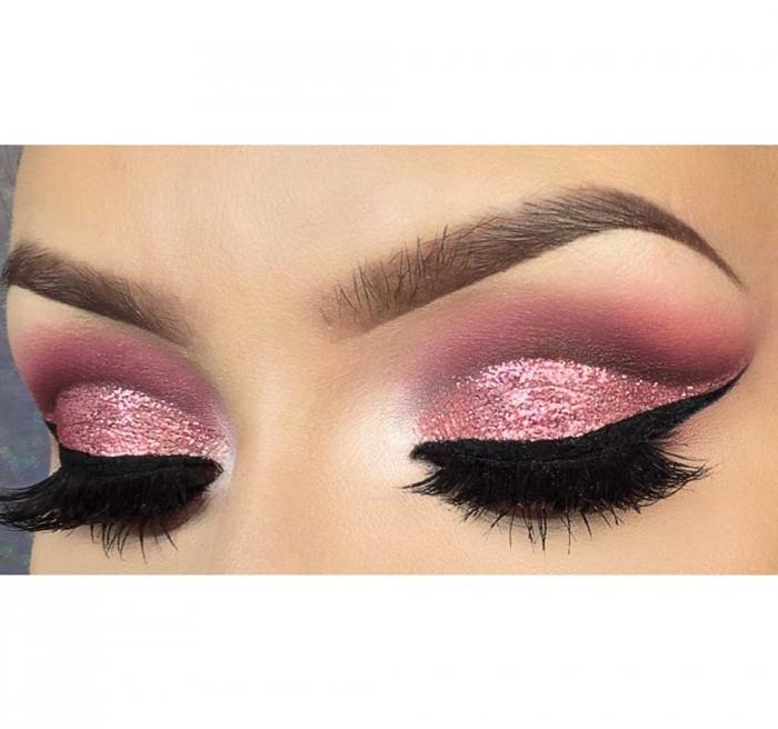 Glitter Multifunctional SAFFRON All Over Glitter - 06 Brilliant Pink, 4.5g-big
