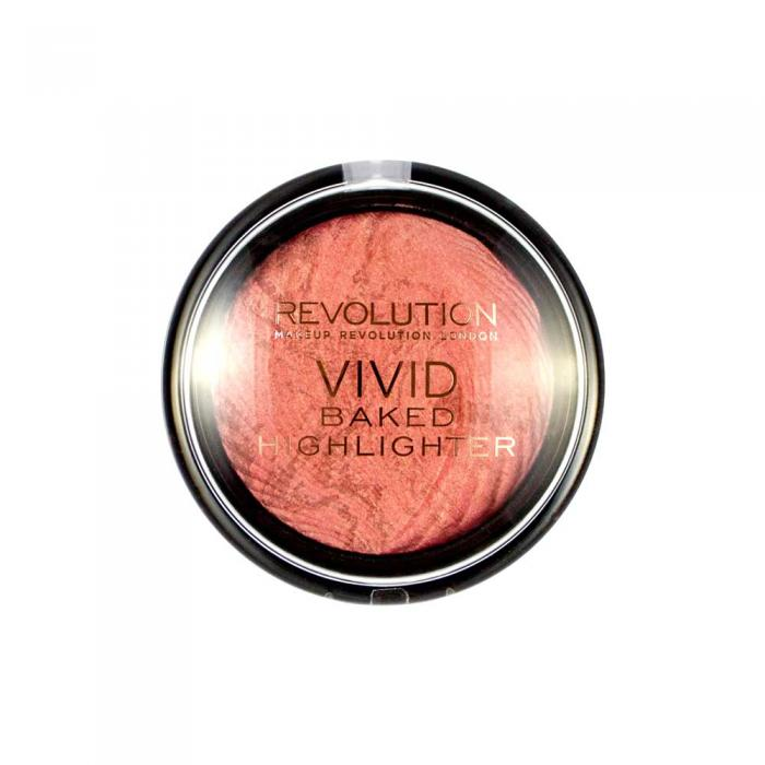 Iluminator MAKEUP REVOLUTION Vivid Baked Highlighter - Rose Gold Lights, 7.5g-big