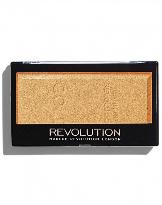Iluminator compact Makeup Revolution, Ingot Highlighter - Gold, 12g-big