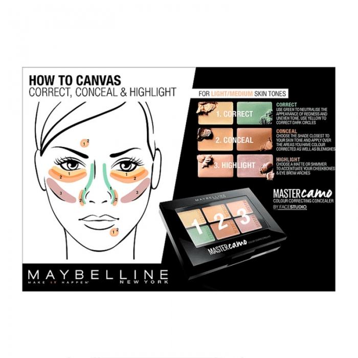 Kit pentru corectarea imperfectiunilor Maybelline New York Master Camo 01 Light, 6.5 g-big