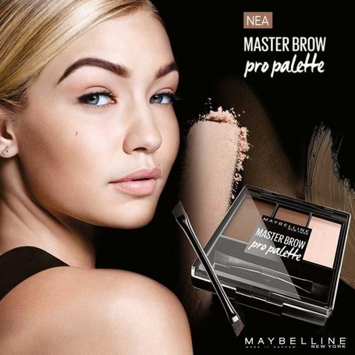 Kit pentru sprancene Maybelline New York Master Brow Pro Pallete - Deep Brown-big