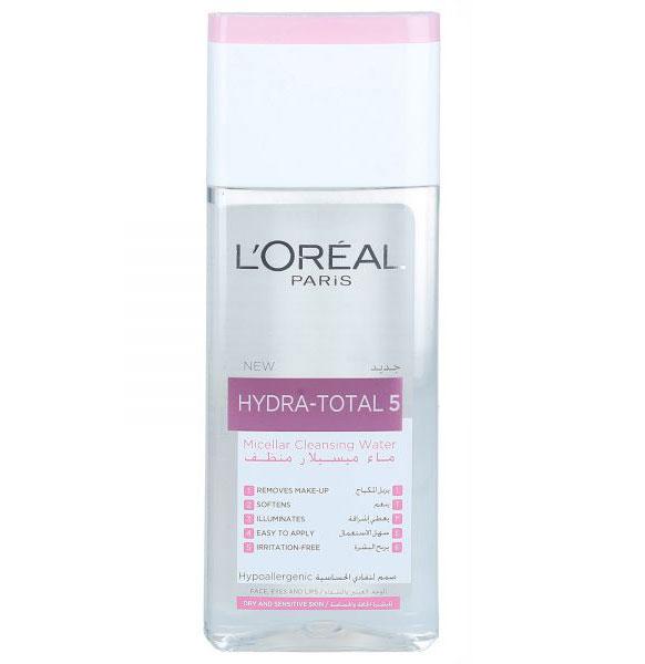 Apa micelara L'Oreal Hydra Total 5 Purifying Micellar Water, 200 ml-big