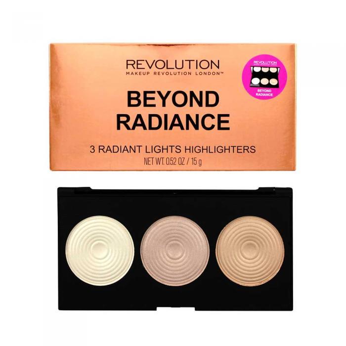 Paleta iluminatoare MAKEUP REVOLUTION 3 Radiant Lights Highlighter Palette - Beyond Radiance, 15g-big