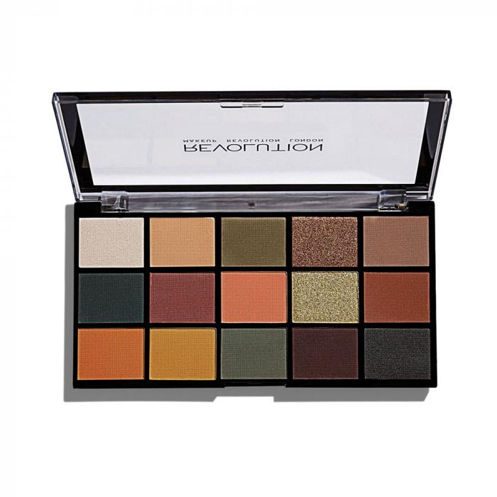 Paleta de farduri Makeup Revolution - Re-Loaded Palette - Iconic Divison, 15 Nuante-big