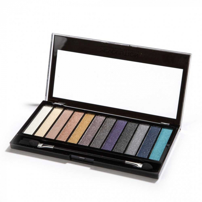 Paleta de farduri Makeup Revolution - Redemption - Essential Day To Night, 12 Nuante-big