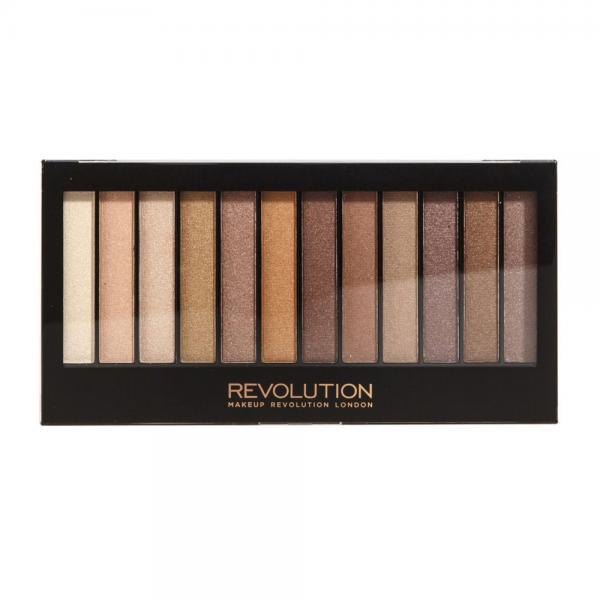 Paleta Cu 12 Farduri MAKEUP REVOLUTION Redemption Palette - Essential Shimmers, 14g-big