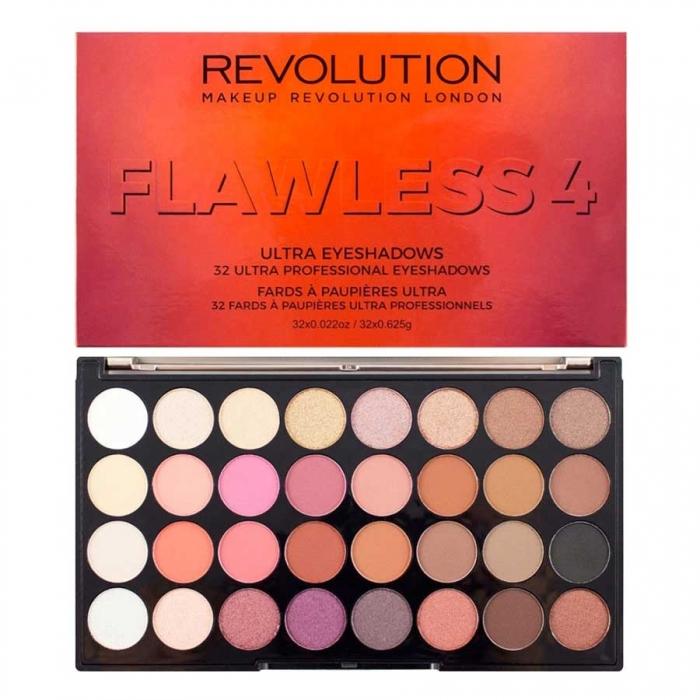 Paleta Profesionala Cu 32 Farduri Makeup Revolution - Flawless 4-big