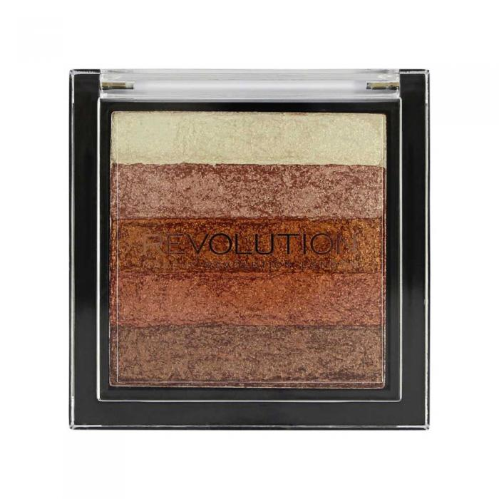 Paleta Iluminatoare Bronzanta MAKEUP REVOLUTION Shimmer Brick, Rose Gold-big