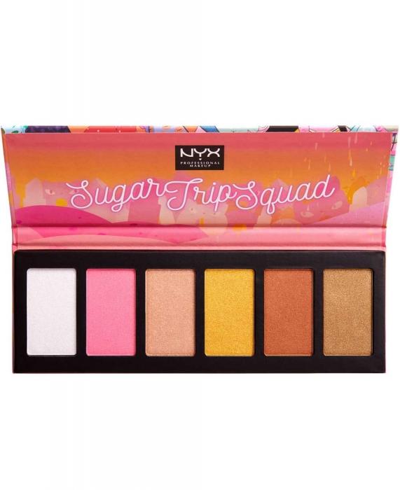 Paleta Iluminatoare NYX Professional Sugar Trip Squad Highlighting Palette Limited Edition-big