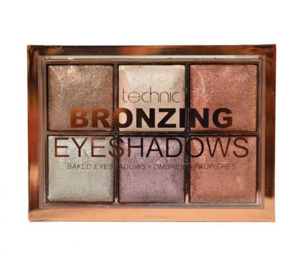 Paleta de farduri cu pigmenti Iluminatori Technic Bronzing 6 Colour Baked Eyeshadow Palette ,6 X 2 g-big
