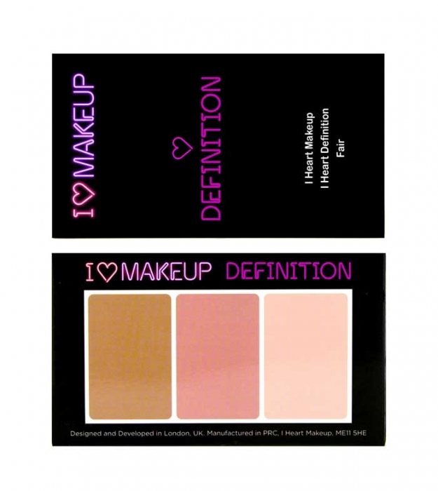 Paleta Profesionala pentru Conturare si Iluminare I Heart Makeup, Fair, 11g-big