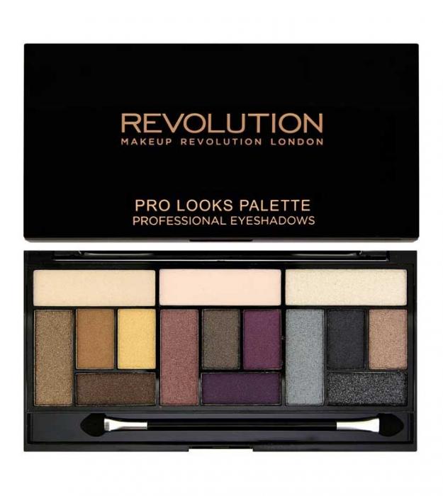 Paleta Makeup Revolution Pro Looks Palette, 3 Looks in 1 - Big Love, 13g-big