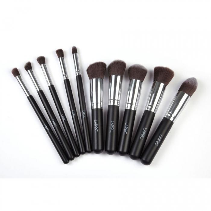 Set 10 Pensule Machiaj Profesionale LAROC Kabuki Brush Set-big