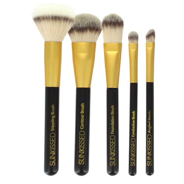 Set 5 Pensule pentru Conturare si Blending SUNKissed The Perfect Contour 5pc Make-Up Brush Set-big
