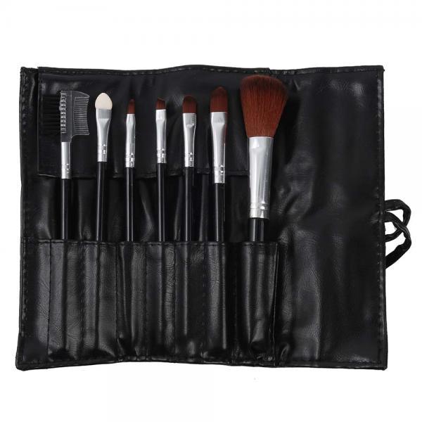 Set 7 Pensule Profesionale Luxury pentru Machiaj - Carbon Black-big