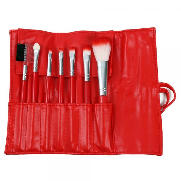 Set 7 Pensule Profesionale Luxury pentru Machiaj - Red Christmas-big