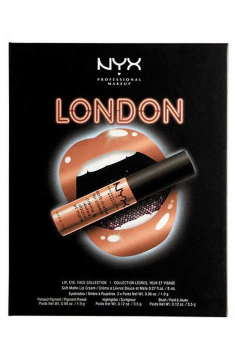 Set Machiaj NYX Professional Lip Eye Face Collection City Gift Set London, Special Edition-big