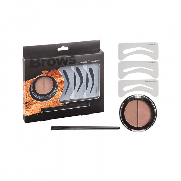 Set pentru definirea sprancenelor Royal Brows Cosmetic Connections Set, 5 piese-big