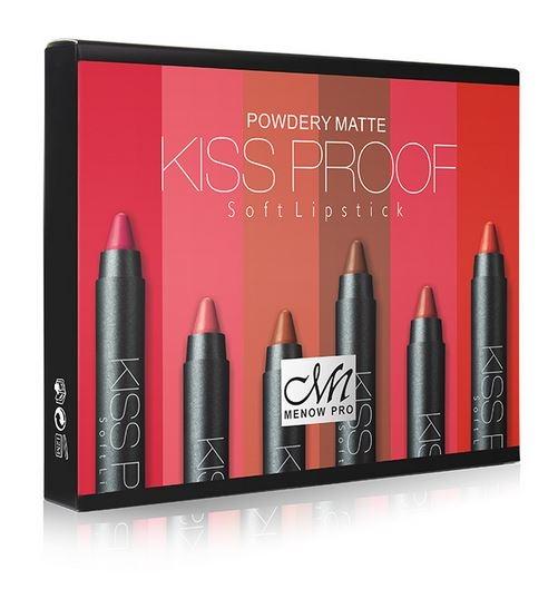 Set Cadou MENOW Pro Kiss Proof Powdery Matte, 6 C Rujuri Mate Rezistente la Transfer-big