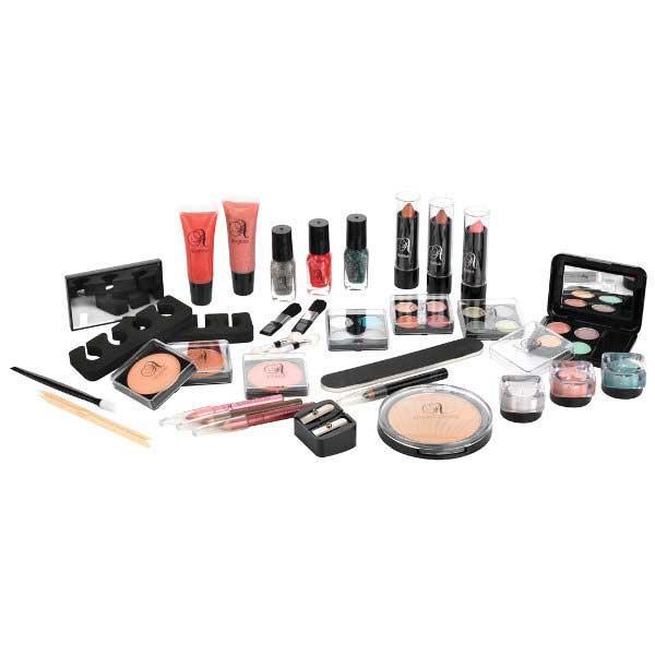Valiza completa pentru Machiaj TECHNIC Essential Large Clear Carry Case With Cosmetics-big