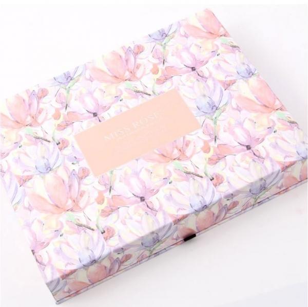 Trusa Profesionala pentru Machiaj Miss Rose Deluxe Shimmer & Matte, 85 culori, Imperial Flowers-big