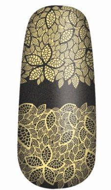 Pachet 16 Abtibilduri Pentru Unghii OPI Pure Lacquer - Gold Lace-big