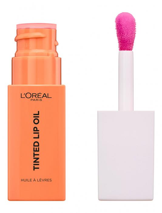 Balsam De Buze L'Oreal Paris Tinted Lip Oil, 01 Jelly Peach, 6.5 ml-big