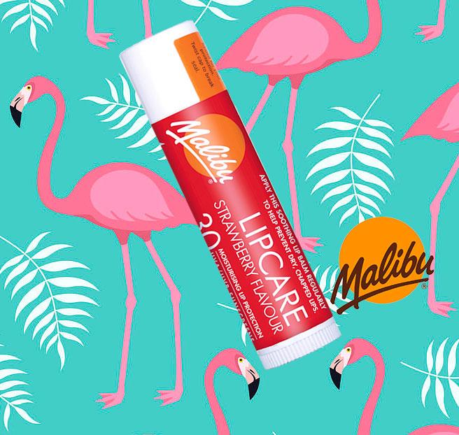 Balsam De Buze Protector Malibu Lipcare, UVA/UVB, SPF 30, Strawberry, 4 g-big