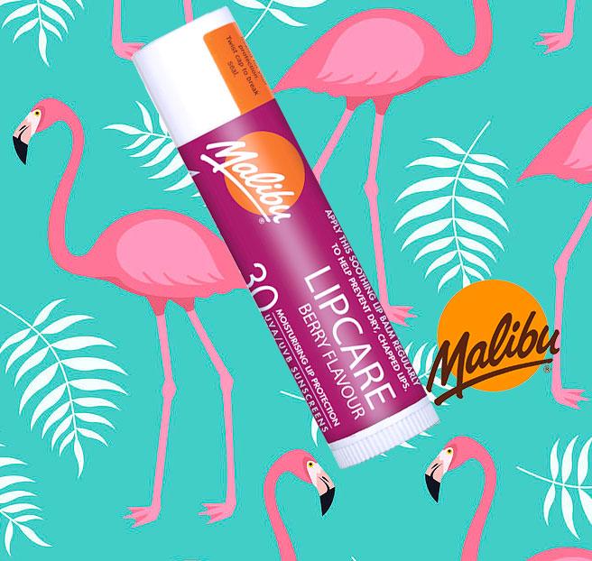 Balsam De Buze Protector Malibu Lipcare, UVA/UVB, SPF 30, Berry, 4 g-big