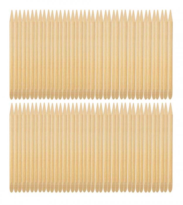 Betisoare din lemn de portocal pentru cuticule si unghii, 100 bucati-big