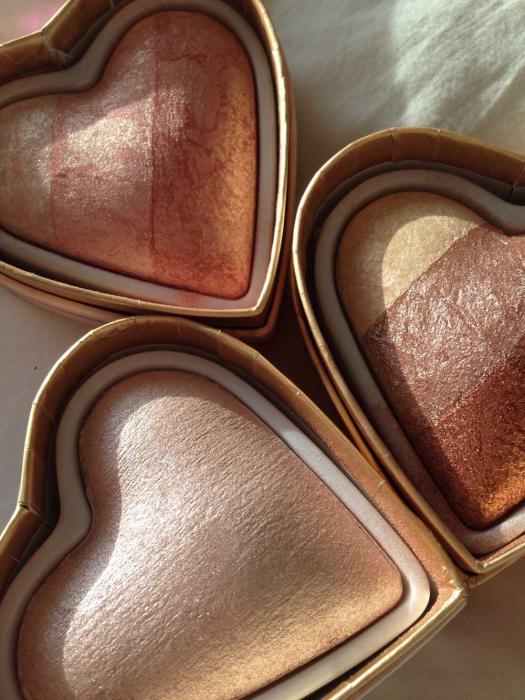 Iluminator Makeup Revolution I Heart Makeup Blushing Hearts Baked Highlighter - Summer Of Love, 10g-big