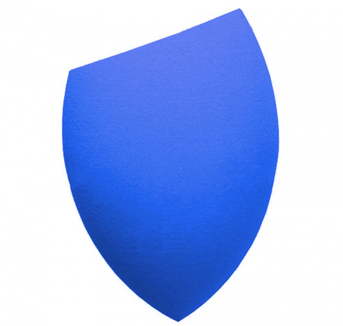 Burete Profesional Lacrima pentru Machiaj, Perfect Blending Cut Teardrop, Blue-big