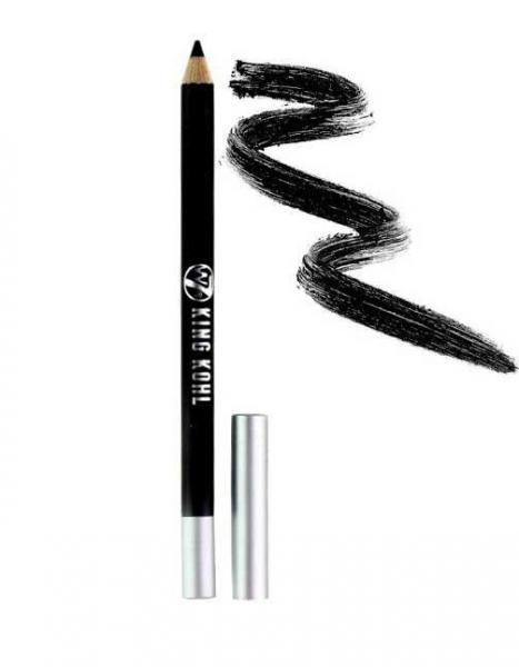 Creion De Ochi puternic pigmentat W7 King Kohl- Blackest Black (Negru)-big