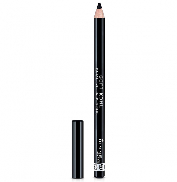 Creion de ochi Rimmel London Soft Kohl Kajal Eye Pencil, 061 Jet Black, 1.2 g-big