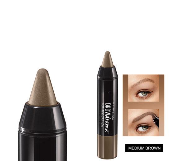 Creion pentru sprancene Maybelline New York BROW Drama Pomade Crayon, Medium Brown-big