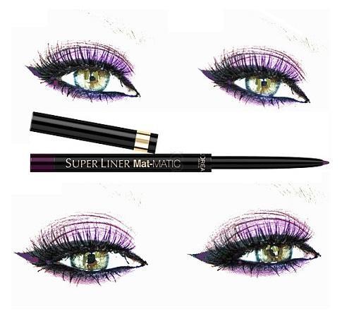 Creion De Ochi Retractabil L'Oreal Super Liner Mat-MATIC - Deep Violet-big