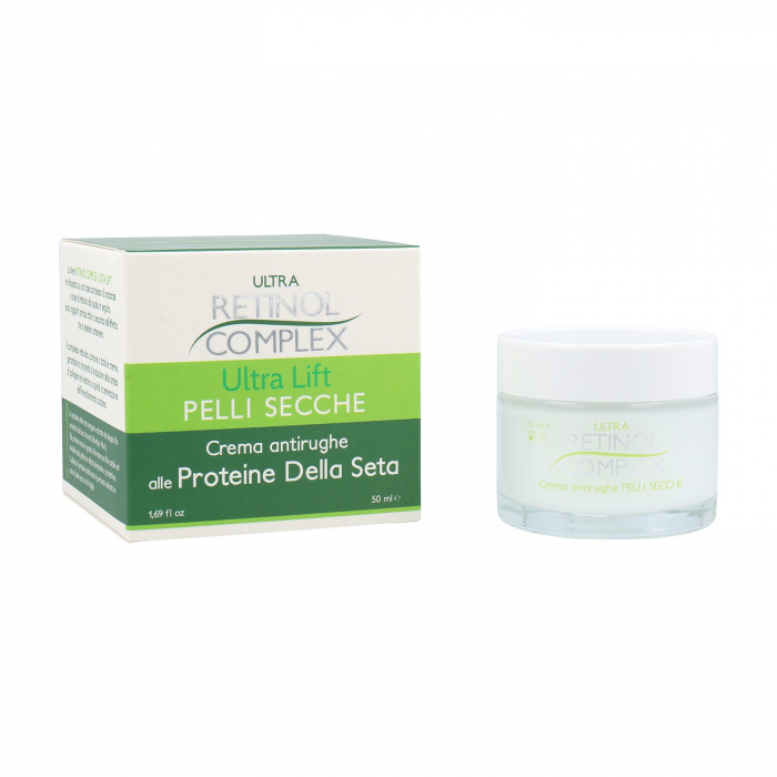 Crema antirid pentru piele uscata cu Proteine din Matase, Ultra Retinol Complex, 50 ml-big