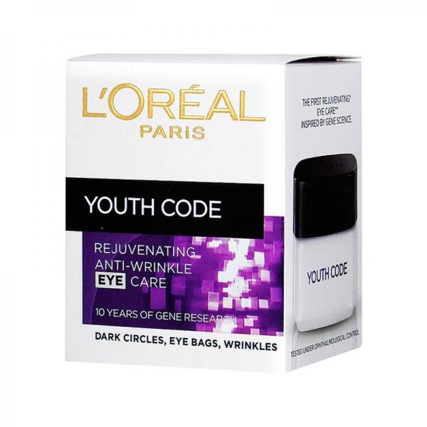 Crema antirid Codul Tineretii pentru conturul ochilor L'Oreal Youth Code Eye, 15 ml-big