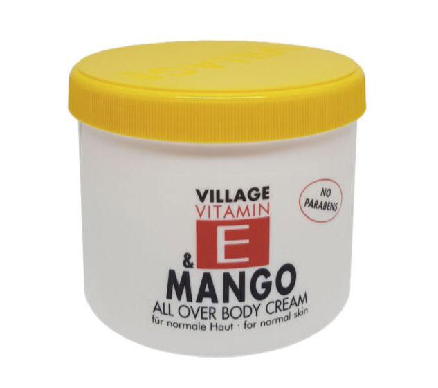Crema De Corp VILLAGE COSMETICS Cu Vitamina E si Mango, 500 ml-big