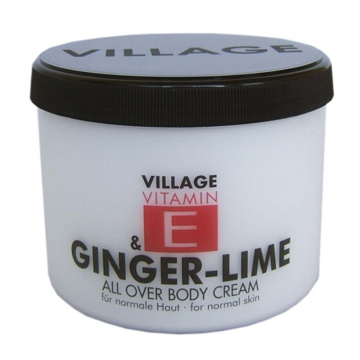 Crema De Corp VILLAGE COSMETICS Cu Ghimbir - Lamaita si Vitamina E, 500 ml-big