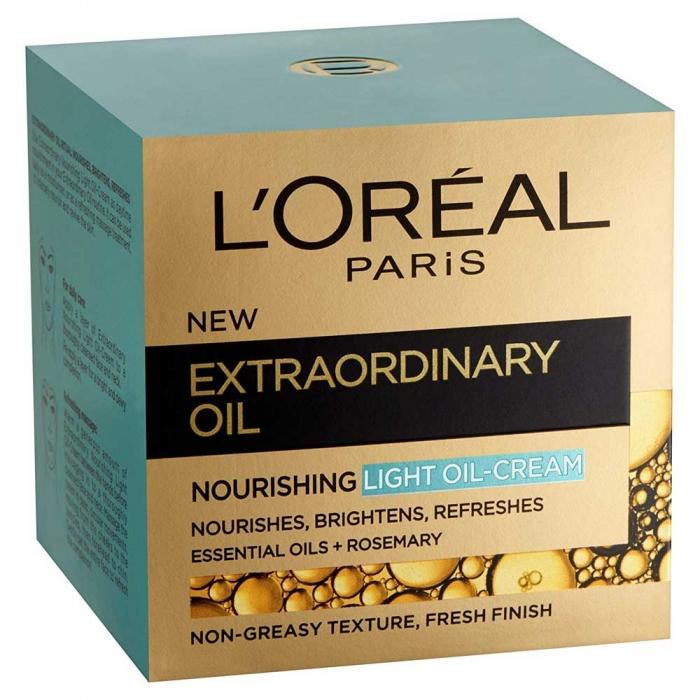 Crema De Fata Hidratanta Si Iluminatoare L'oreal Extraordinary Oil Light Oil Cream, 50 ml-big