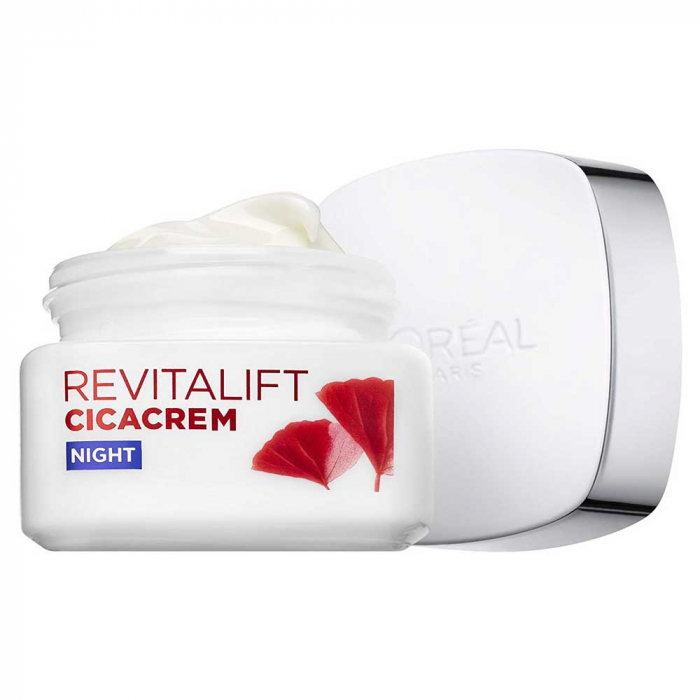Crema De Noapte Anti Rid L'Oreal Paris Revitalift Cica Crem, 50 ml-big