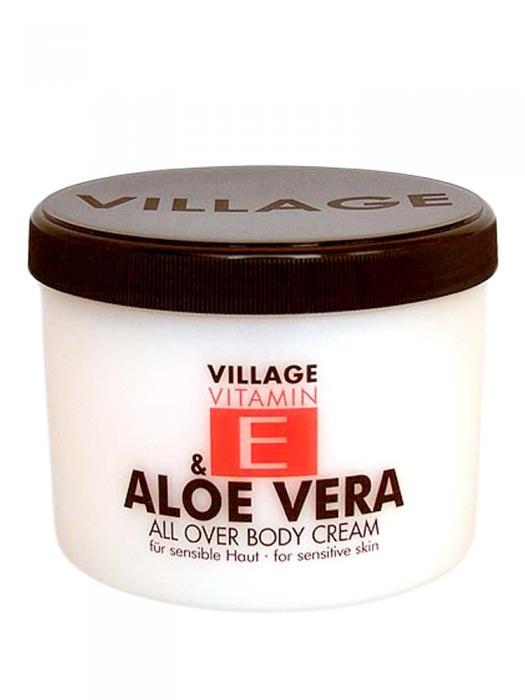 Crema De Corp VILLAGE COSMETICS Cu Vitamina E Si Aloe Vera, 500 ml-big