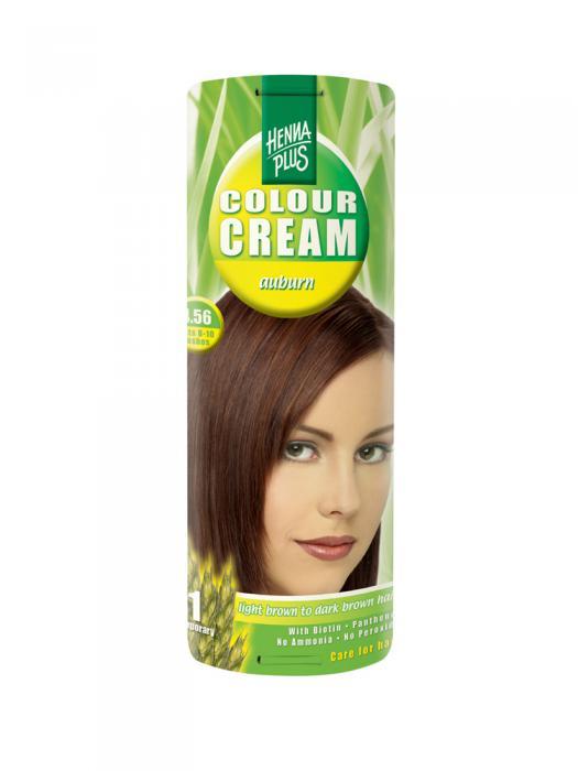 Crema Nuantatoare de Par HennaPlus Colour Cream - Auburn 4.56-big