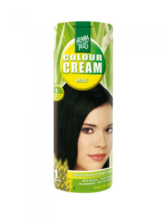 Crema Nuantatoare de Par HennaPlus Colour Cream - Black 1-big