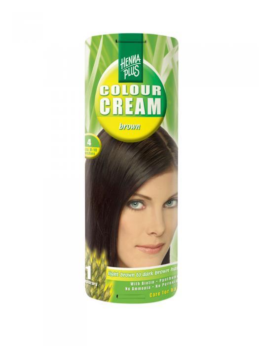 Crema Nuantatoare de Par HennaPlus Colour Cream - Brown 4-big