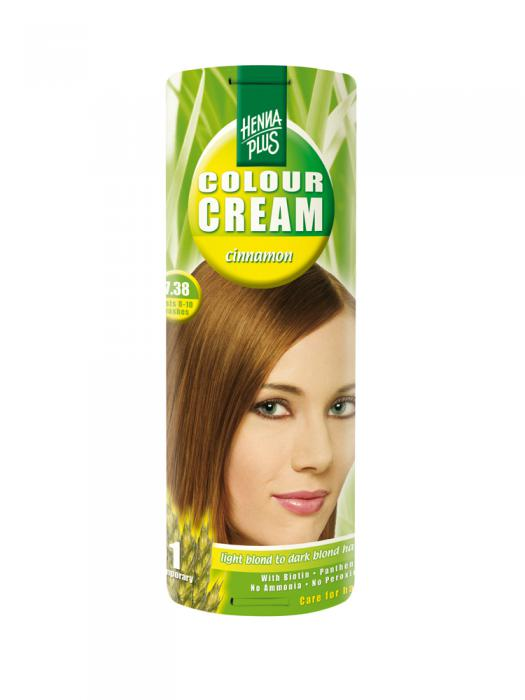 Crema Nuantatoare de Par HennaPlus Colour Cream - Cinnamon 7.38-big