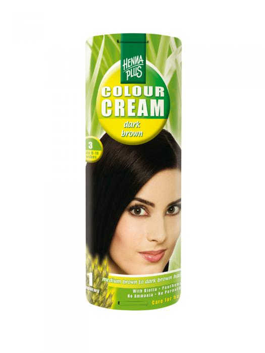 Crema Nuantatoare de Par HennaPlus Colour Cream - Dark Brown 3-big