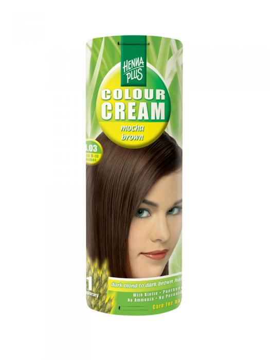 Crema Nuantatoare de Par HennaPlus Colour Cream - Mocha Brown 4.03-big