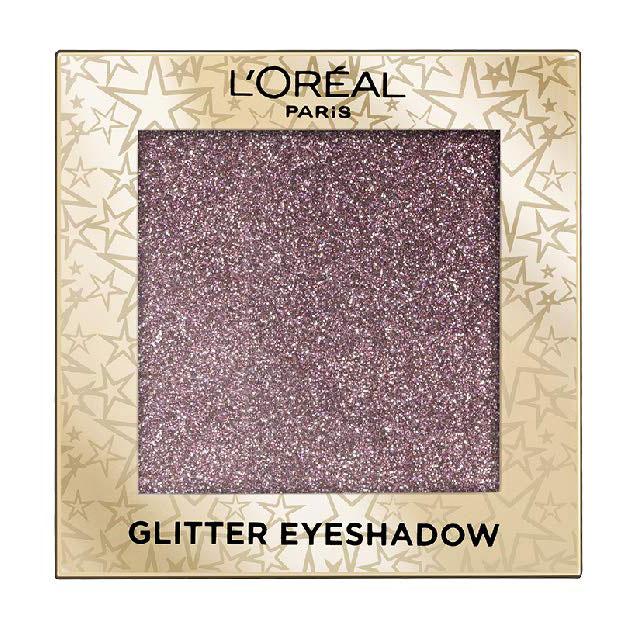 Fard de pleoape cu sclipici L'Oreal Paris Glitter Eyeshadow, 02 Purple Lights-big